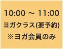 10:00~11:00 ヨガクラス