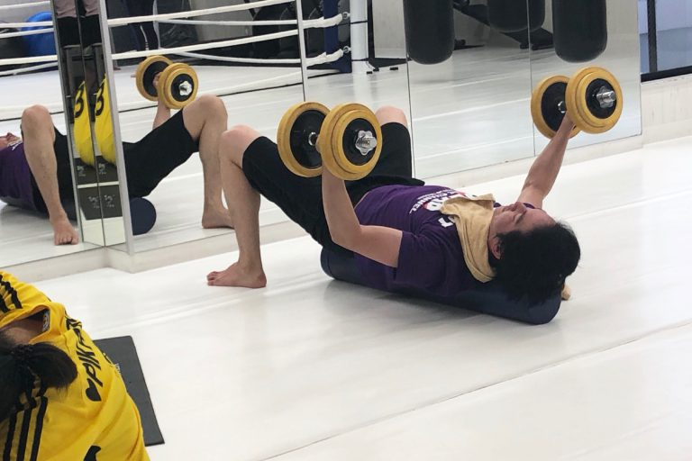 工夫を凝らした筋力トレーニングで筋量アップ!!