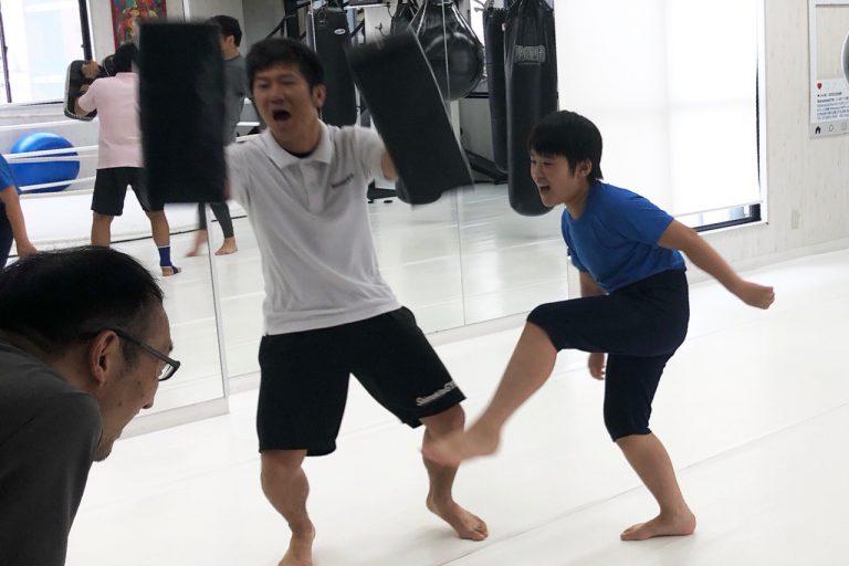 週末の朝は親子でキックボクシング☆
