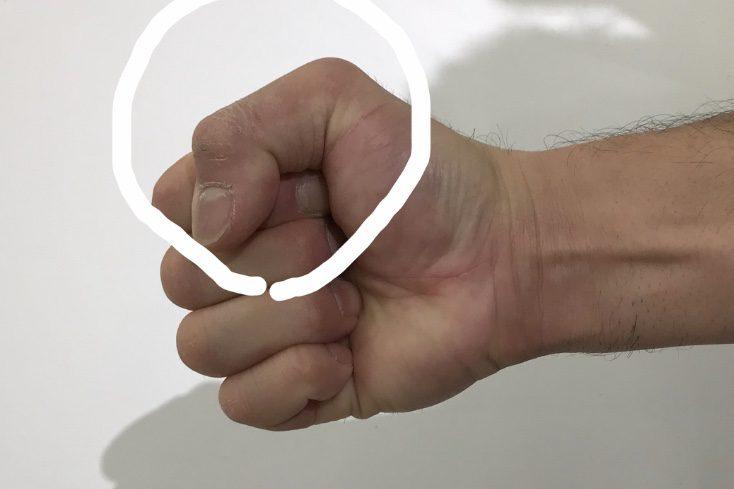 拳の正しい握り方