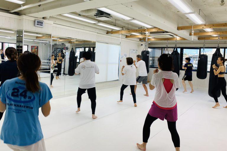 大盛況エアキックボクシングクラス!