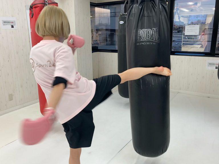 朝からキックボクシング!