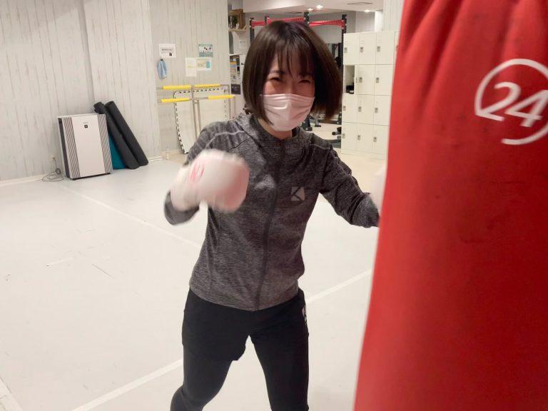 笑顔でキックボクシング♪